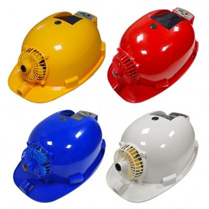 双供电太阳能风扇安全帽