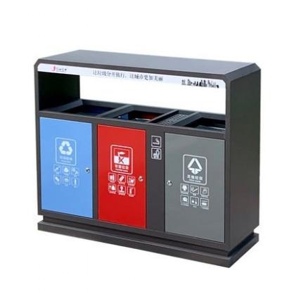 创世金典  上海户外多分类垃圾桶  室外三分类回收垃圾箱  四分类果皮箱