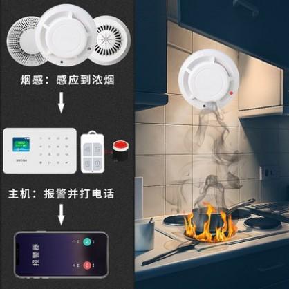 无线烟雾报警器  无线烟感消防火灾探测器  远程报警系统
